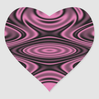 Rings and Ripples Pink Heart Sticker