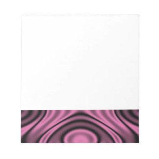 Rings and Ripples Pink Note Pad