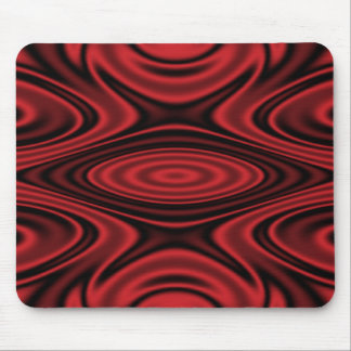 Rings and Ripples Red Mouse Pads