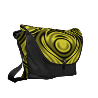 Rings and Ripples Yellow Courier Bags