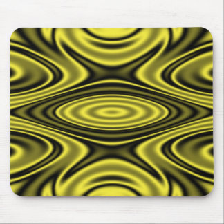 Rings and Ripples Yellow Mouse Pads