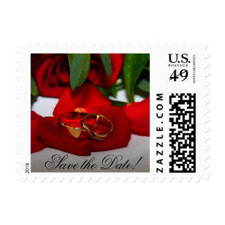 Rings and Rose Save the Date Postage