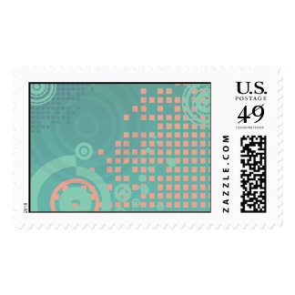 Rings and Squares Postage Stamps