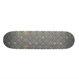 Rings (Blue/Yellow/Green/Purple) Skateboard Deck