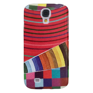 rings, circles, and checks mini collage galaxy s4 cover
