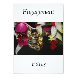 Rings  Engagement  Party Invitation