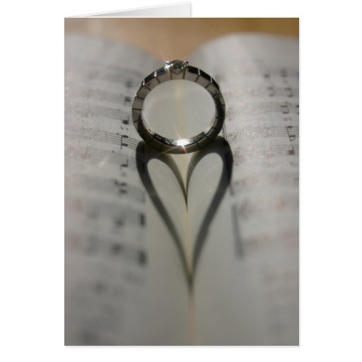 Ring's Heart Shadow Greeting Card