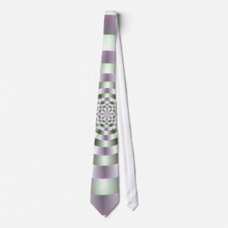 Rings in Green and Purple Tie