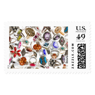 rings jewelry postage postal stamps