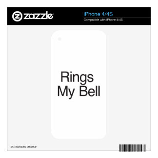 Rings My Bell Skins For The iPhone 4
