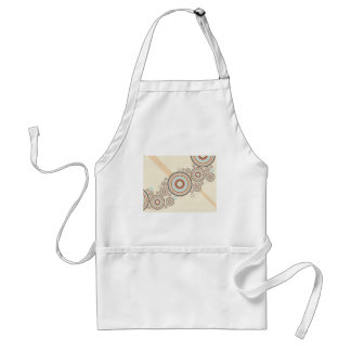 Rings of Color Abstract Graphic Apron