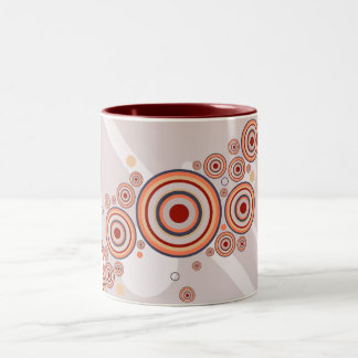 Rings of Color Abstract Graphic Two-Tone Coffee Mug