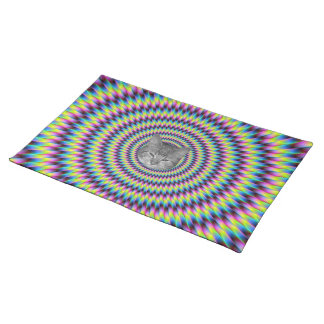 Rings Of Color Cat Cloth Placemat