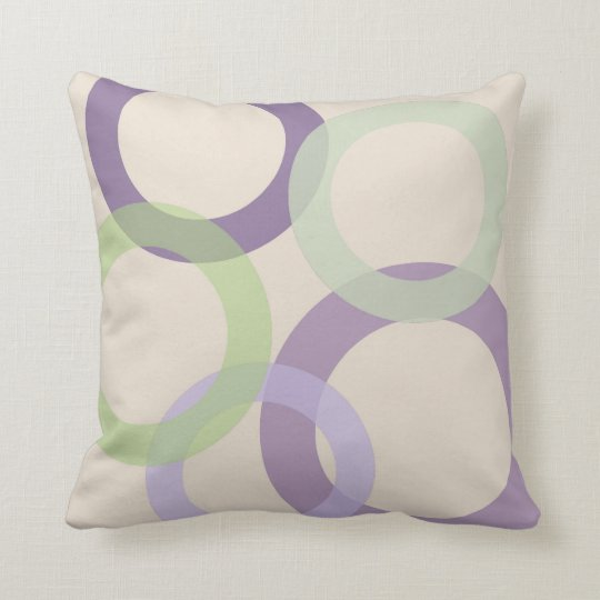 Rings of Color - Purple Throw Pillow