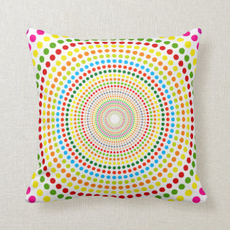 Rings of Dots Throw Pillow