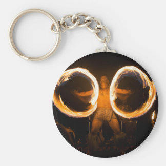 Rings of Fire Basic Round Button Keychain