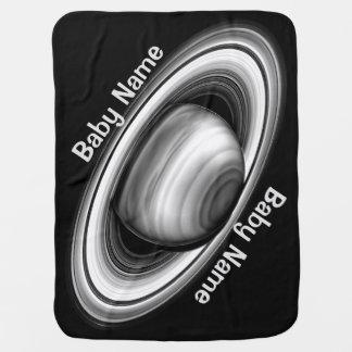 Rings of Gas Giant Saturn - solar system Stroller Blanket