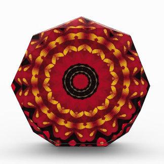 Rings Of Gold On Red Mandala Award
