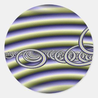 rings of saturn classic round sticker