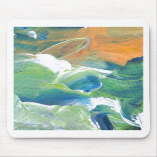 Rings of Saturn Ocean Waves Sea Art Abstract Mouse Pad