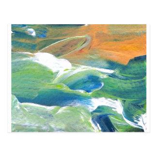 Rings of Saturn Ocean Waves Sea Art Abstract Post Cards