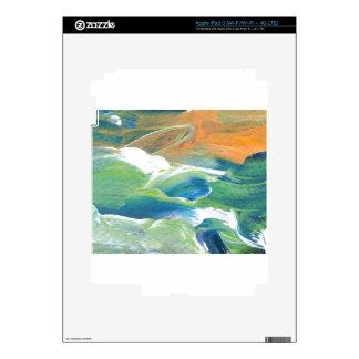 Rings of Saturn Ocean Waves Sea Art Abstract iPad 3 Skin