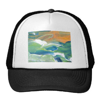 Rings of Saturn Ocean Waves Sea Art Abstract Trucker Hat