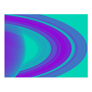 Rings of Saturn Purple Design on Cards Stickers Postcard