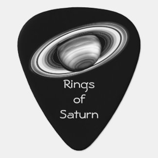 Rings of Saturn Solar System Picture Guitar Pick