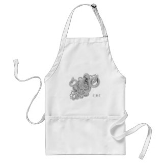 Rings of Silver Adult Apron