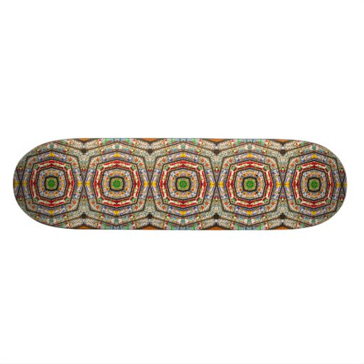 Rings of Stained Glass Skate Decks