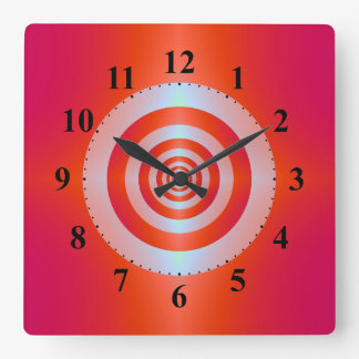 Rings on Red Wall Clock