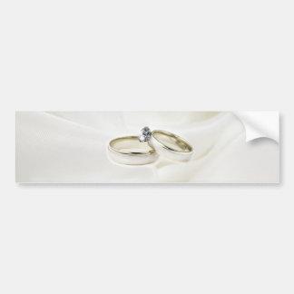 Rings on Satin Bumper Sticker