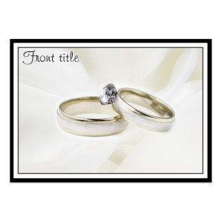 Rings on Satin Business Card