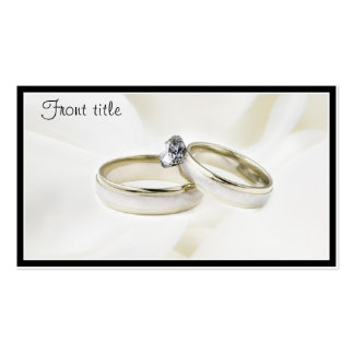 Rings on Satin Business Card Template