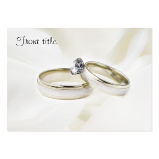 Rings on Satin Business Card Templates