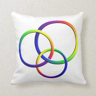 Rings on White Throw Pillows