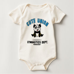 Infant Organic Creeper with Cute Union Gymnastics Dept: Rings design