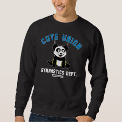 Men's Basic Sweatshirt with Cute Union Gymnastics Dept: Rings design