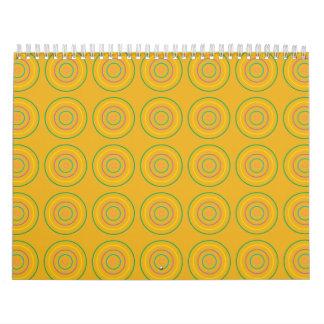 Rings Pattern orange Calendar