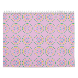 Rings Pattern pink Wall Calendars