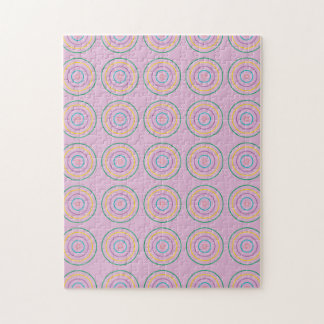 Rings Pattern pink Puzzle