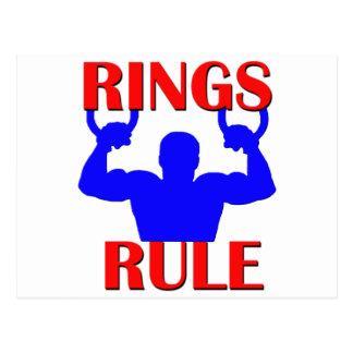Rings Rule Postcard