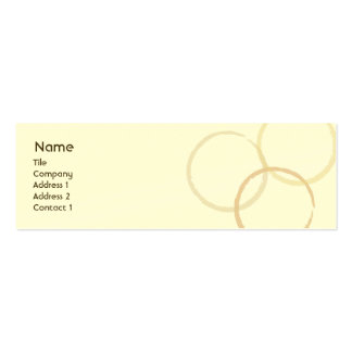 Rings - Skinny Double-Sided Mini Business Cards (Pack Of 20)