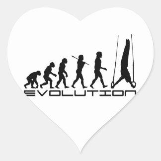Rings Still Gymnastics Sport Evolution Art Heart Sticker