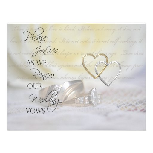 Renewal Wedding Invitations with nice invitation design