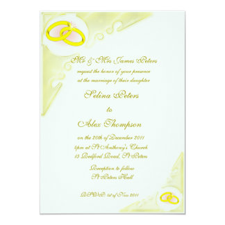 Rings Wedding Invitation