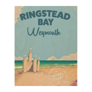 Ringstead Bay Weymouth vintage travel poster