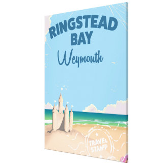 Ringstead Bay Weymouth vintage travel poster Canvas Print