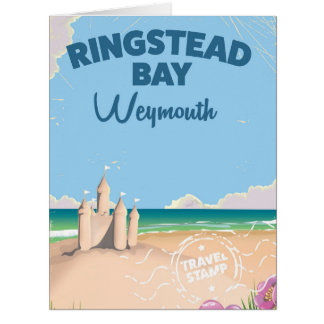 Ringstead Bay Weymouth vintage travel poster Card